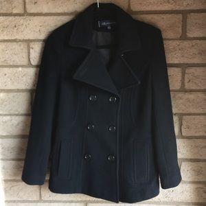 Anne Klein Peacoat Wool blend in Black